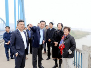 中国涂料工业协会会长孙莲英一行参观考察泰兴经济开发区--该区计划开辟2000亩用地发展涂层产业